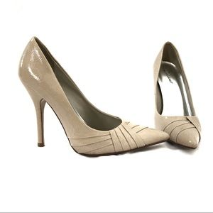 Delicious nude pointed toe high heels